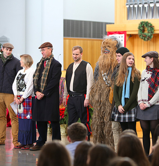 Annual Scrooge Chapel Delights Middle & Upper School Students