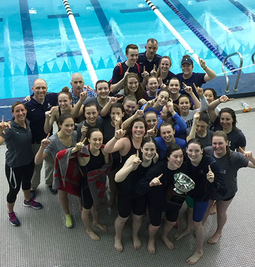Girls' Swim and Dive Team Claims First-Ever Easterns Win