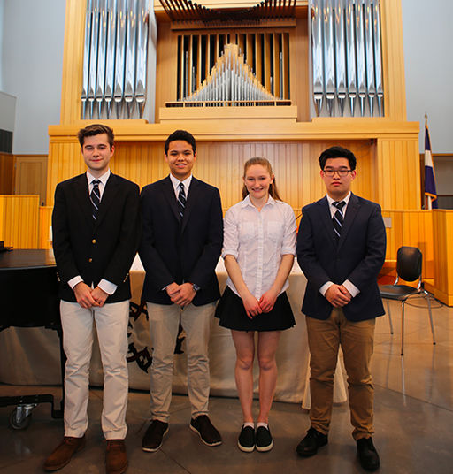Dora Khayatt Music Prizes Awarded to Four Upper School Musicians