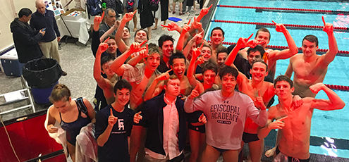 Inter-Ac Title for Boys' Swim & Dive Team