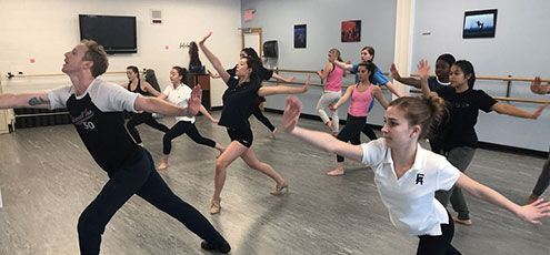 A Broadway Rehearsal for Honors Dance Class