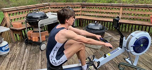 Rowing Team Continues Season Through Virtual Races